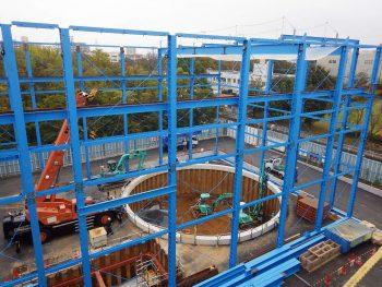 エコジオ工法が、ケーソン工事の地盤改良で採用されました。